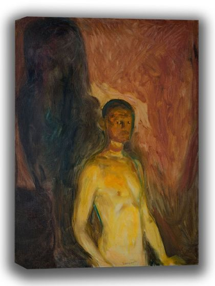 Munch, Edvard: Self-Portrait in Hell. Fine Art Canvas. Sizes: A4/A3/A2/A1 (0082)
